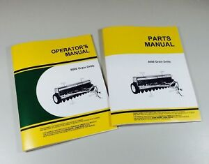 Operators Parts Manuals For John Deere 8000 8100 8200 8300 Grain Drill Service