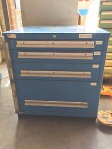 Lyon Mssii 4 Drawer Tooling Storage Cabinet Used r028