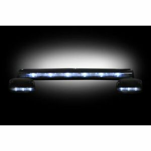 Recon 264156whbk Smoked Led Cab Roof Lights White For 2007 13 Chevy Gmc Trucks