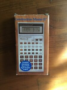 Construction Master Ii Consolidated Industries Calculator Vintage