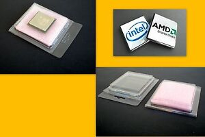 Processor Case Clam Shell For Amd Cpu With Anti Static Foam Lot Of 10 To 225