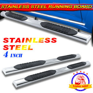 Fit 06 15 Honda Ridgeline 4 Running Board Side Step Nerf Bar Stainless Steel A
