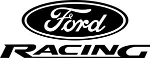 Ford Racing Logo Decal Pair Of 2 Stickers Car Window Wall