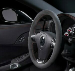 C6 Corvette Black Suede Centennial Edition Steering Wheel With Color Stitching