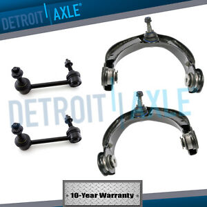 New 4pc Upper Control Arms W ball Joints Sway Bar End Link For Dodge Durango
