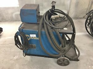 Liquidation Miller Cp 302 3 Phase Mig Welder With Feeder And Cart all 018