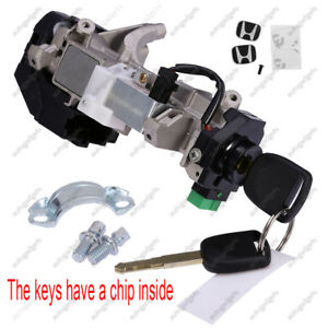Ignition Switch Cylinder Lock Auto Trans For Honda Civic 03 04 05 W 2 Keys