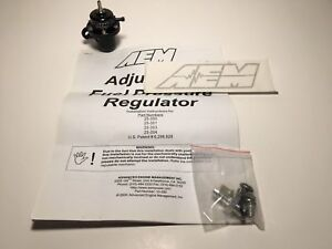 Aem Performance Black Adjustable Fuel Pressure Regulator Fpr Acura Honda B18 New