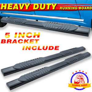Fit 09 14 Ford F150 Super Crew Cab 4 Running Board Side Step Nerf Bar Blk A