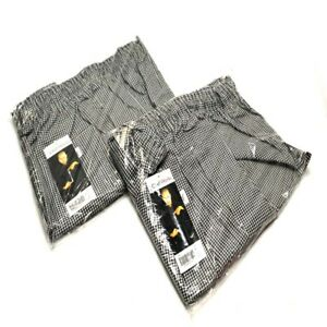 2 New Chef Works Nbcp 4xl Checkered Baggy Designer Chef Pants 4xl