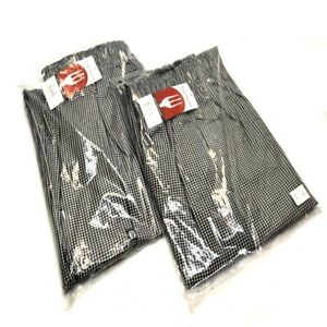 2 New Chef Works Nbcp 000 m Checkered Baggy Designer Chef Pants medium