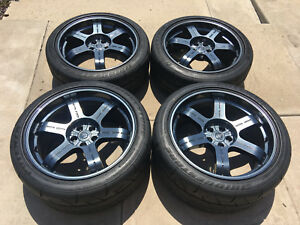 20 Oem Gtr Factory Nissan Rays Forged R35 Black Edition Wheels Tires Gt R 19 21