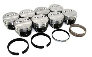 Sealed Power H345dcp Chevy Sbc 350 4 Valve Relief Flat Top Pistons With Rings