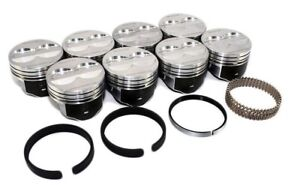 Sealed Power H345dcp 4 Valve Relief Flat Top Pistons Rings Chevrolet Sbc 350
