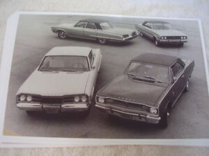 1967 Dodge Model Display Dart Coronet Monaco Etc 11 X 17 Photo Picture