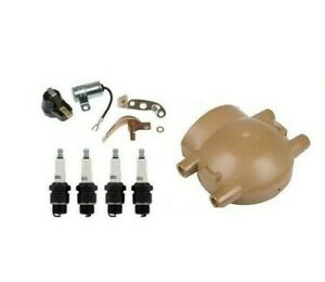 Ford 8n 9n 2n Ignition Tune Up Kit Plugs Cap Front Mount Distributor