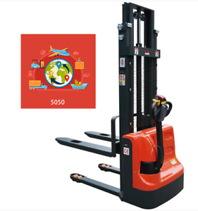 New Ms cl10 2200lb Electric Powered Walkie Stacker Pallet Stacker