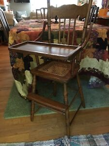 Antique Vintage Victorian High Chair Late 1800 S