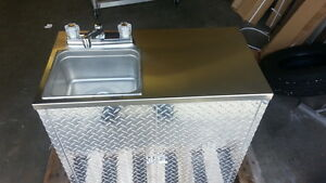 Portable Self Contained Single Sink Food Truck Trailer Hot Water
