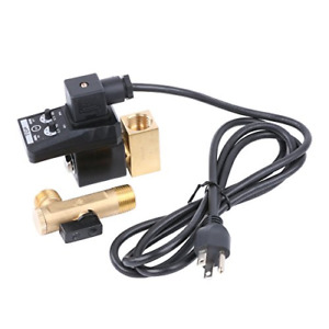 1 2 Ac 110v Automatic Timed Water Tank 2 way Direct acting Drain Valve Us Plug