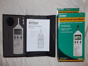 New Extech 407736 Dual Range Digital Type 2 Sound Level Meter Case Manual Accs