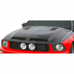 Gt500 Hood 1 Piece Fits Ford Mustang 05 09 Carbon Creations