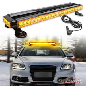Amber 26 5 High Intensity Double Side Warning Strobe Light Bar With Magnetic