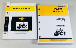 Service Manual Parts Catalog Set For John Deere 440 440a Series A 440b Skidder