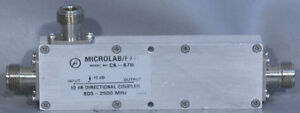 Microlab fxr Ck 67n Dual section Wideband Air line 10 Db Directional Coupler