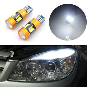2x Hid White T10 2825 2827 W5w Canbus Error Free Parking Lights 19 Smd Led Bulbs
