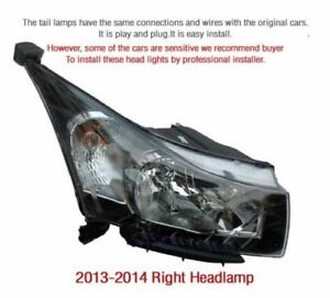 Oem Parts Head Light Lamp Right Assembly 1pcs For Chevrolet 2013 2014 Cruze