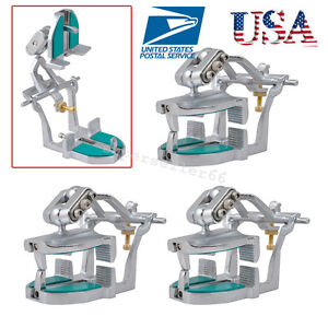 3pc Dental Lab Adjustable Magnetic Articulator For Dentist Full Teeth Unit Alloy