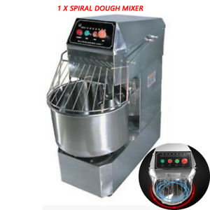 20l Commercial Home Action Double Speed Spiral Dough Mixer 1 1kw 220v110v Silver