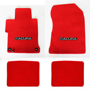 New 1995 2014 Acura Tl Red Custom Carpet Floor Mats 4pc Set Embroidered Logo