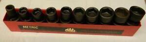 Mac Tools 3 8 Drive 10pc 6pt Metric Impact Universal Socket Set sxupm106tr