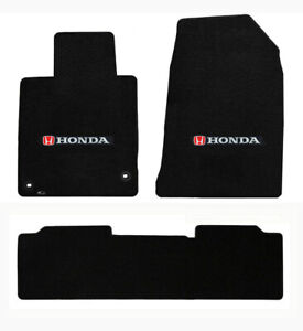 New 2006 2015 Honda Civic Si Custom Carpet Floor Mats 3 Pc Set Embroidered Logo