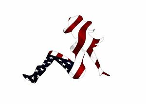 Decal Sticker Sexy Woman Cowgirl Country Girl Silhouette American Flag Usa