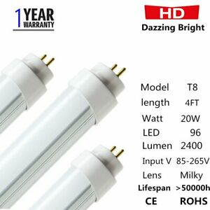 100pack 20w 4ft 5000k Daylight Led T8 Tube Light Lamp Ce Rohs Us
