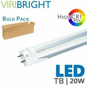 10 100 Pack 20w 48 Inch 4ft Led Fluorescent Tube Light Bulb G13 T8 Lamp Fixture