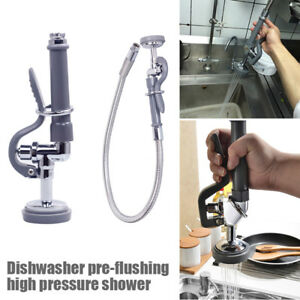 Commercial Restaurant Pre rinse Kitchen Faucet Tap Sprayer Spray Head With Hose