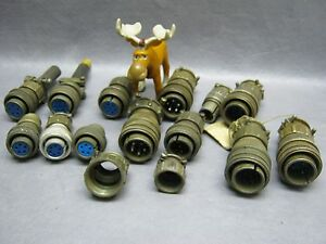 Amphenol Misc Plugs Sockets And Cable Connectors Lot Of 15 used