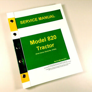 Service Manual For John Deere 820 Tractor Technical Repair Shop Book Ovhl