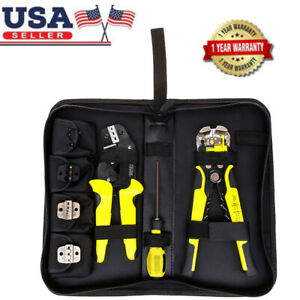 New 4 In 1 Wire Crimpers Engineering Ratcheting Terminal Crimping Pliers Us U9n5