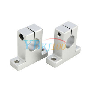 2pcs Sk8 10 12 16 Linear Rail Bearing Shaft Guide Support Bracket Clamp Alloy