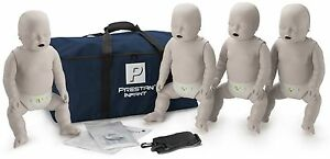 Prestan Infant Aed Cpr Manikins With Monitors 4 Pack Light Skin