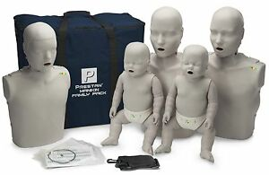 Prestan family Pack Cpr Aed Manikins With Monitor 5 Pack