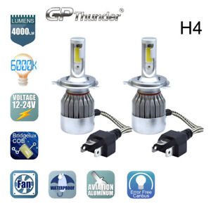 Cob H4 Hb2 9003 Gp Thunder Cree Led Headlight Kit Hi Lo Power Bulbs 6000k
