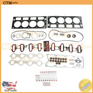 Head Gasket Set Bolts Valve Kit For 01 03 Hummer Gmc Chevy Cadillac 6 0l V8 Mls