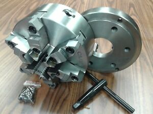 8 6 jaw Self centering Lathe Chuck W Top bottom Jaws D1 6 Adapter Back Plate