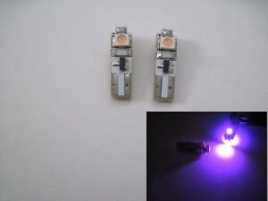 8 Pcs T5 74 2721 3 smd 3528 Smd Dashboard Led Car Magenta Purple High Power Led